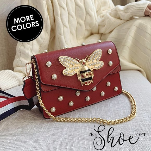 Queen Bee Pearl Crossbody Bag